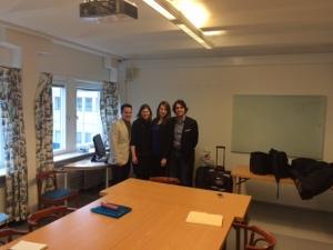Accueil des jeunes assistants parlementaires québécois à Stockholm
