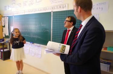 Avec Gilles Dervieux, Directeur de l'Ecole Française de Vilnius