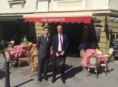 Avec l'Ambassadeur de France en Lituanie, Philippe Jeantaud